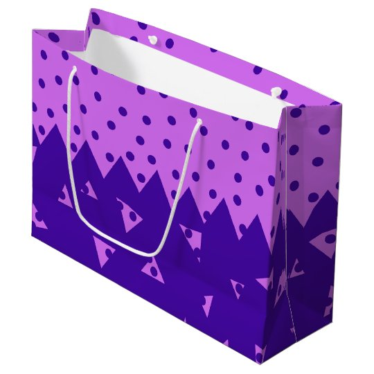 Triangle and  Circles Large Gift Bag