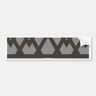 Triangle and Diamond Gray Pattern Bumper Sticker
