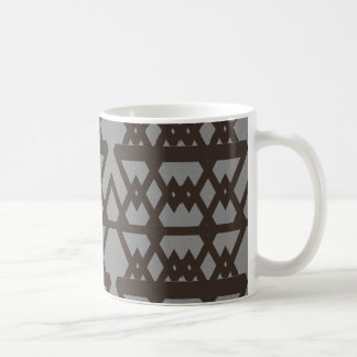 Triangle and Diamond Gray Pattern Coffee Mug