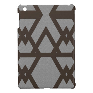 Triangle and Diamond Gray Pattern Cover For The iPad Mini