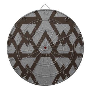 Triangle and Diamond Gray Pattern Dartboard