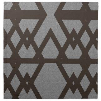 Triangle and Diamond Gray Pattern Napkin