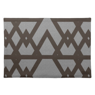 Triangle and Diamond Gray Pattern Placemat