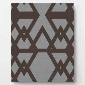 Triangle and Diamond Gray Pattern Plaque