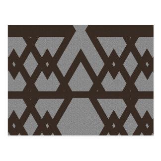 Triangle and Diamond Gray Pattern Postcard