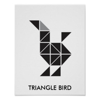 TRIANGLE BIRD POSTER