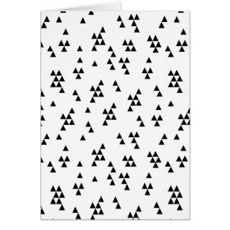 Triangle Black White Minimal Scandi /Andrea Lauren Card