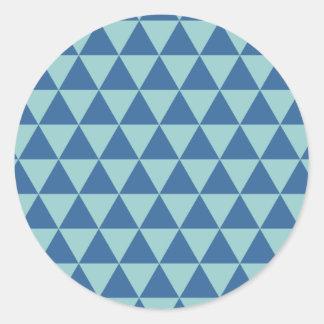 Triangle - Blue Classic Round Sticker