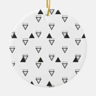 triangle ceramic ornament
