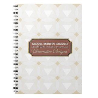 Triangle Circle Decorative White Notebook