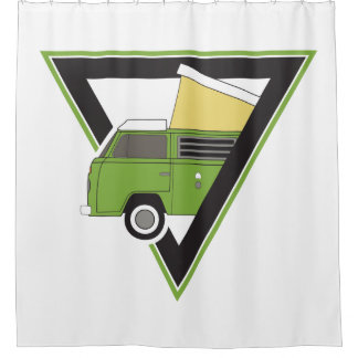 triangle classic green camper van