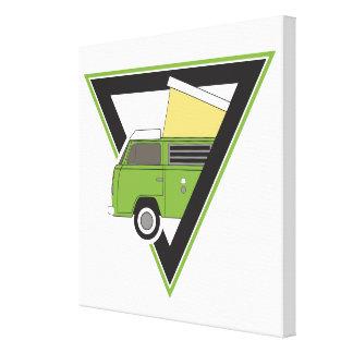 triangle classic green camper van canvas print