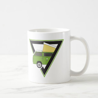 triangle classic green camper van coffee mug
