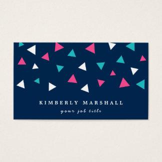 Triangle Confetti Business Cards