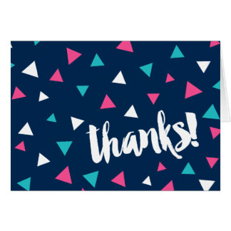 Triangle Confetti Thank You Note Card