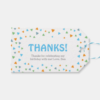 Triangle Confetti Thank you tags   Favour tags
