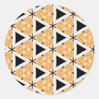 Triangle creation classic round sticker