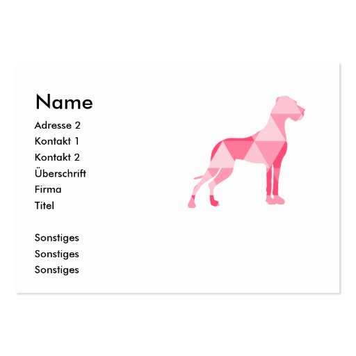 Triangle Dogge Business Card Template