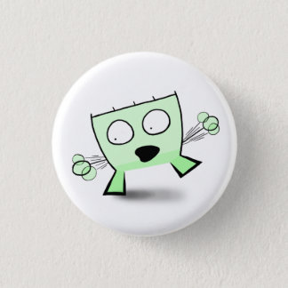Triangle Dude Young Balancing 1 Inch Round Button