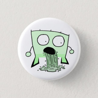 Triangle Dude Young Barfing 1 Inch Round Button