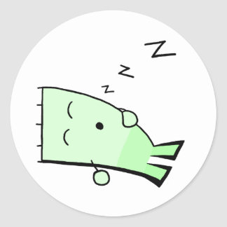 Triangle Dude Young Sleeping Round Sticker