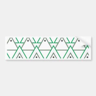 triangle galaxy bumper sticker