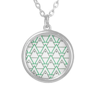 triangle galaxy silver plated necklace