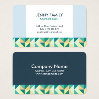 Triangle Geometric Business Card