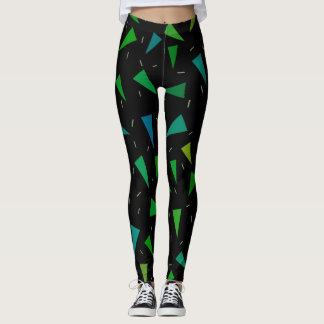 Triangle geometric, modern pattern leggings