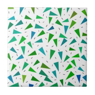 Triangle geometric, modern pattern tile