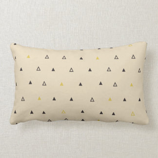 Triangle geometric pattern cream Lumbar pillow