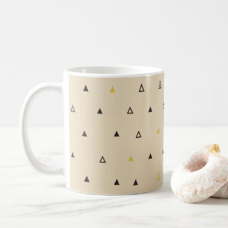 Triangle geometric pattern cream Mug
