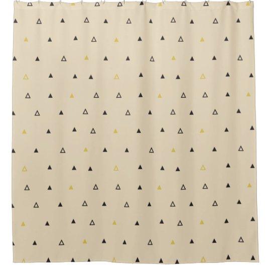 Triangle geometric pattern cream Shower curtain