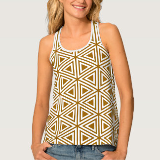 Triangle geometric pattern seamless tank top