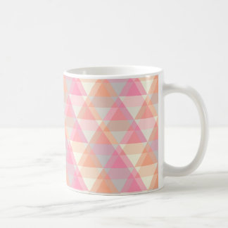 Triangle Geometric Pink Orange Pastel Coffee Mug