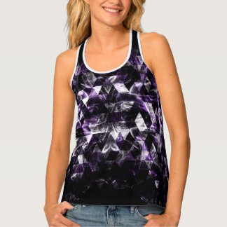 Triangle Geometric Purple Smoky Galaxy Tank Top