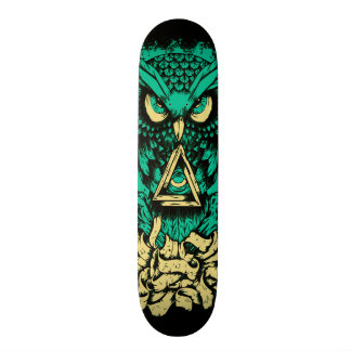Triangle Green Owl Skate Skate Board Deck