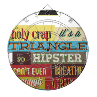 triangle hipster and breath dartboard