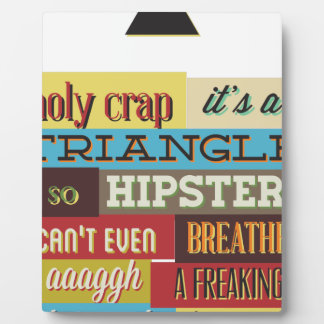triangle hipster and breath plaque