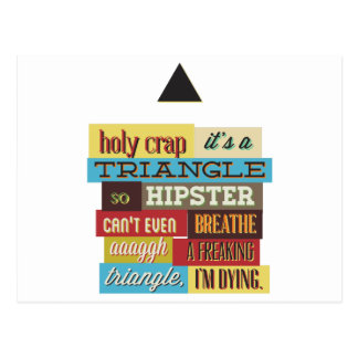 triangle hipster and breath postcard