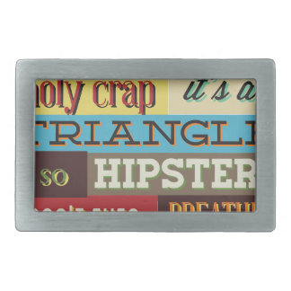 triangle hipster and breath rectangular belt buckles