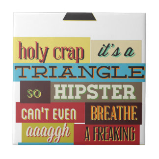 triangle hipster and breath tile