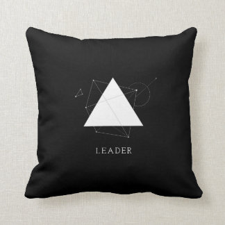 Triangle Leader - Customize Pillow in Black