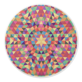 Triangle mandala 1 ceramic knob