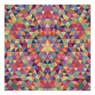 Triangle mandala 1 perfect poster