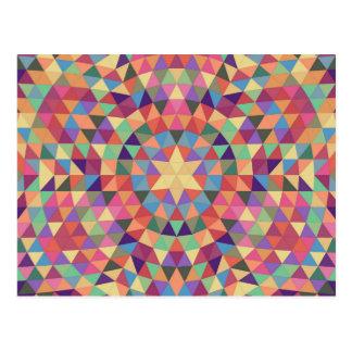 Triangle mandala 1 postcard