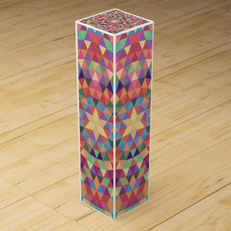 Triangle mandala 1 wine gift box