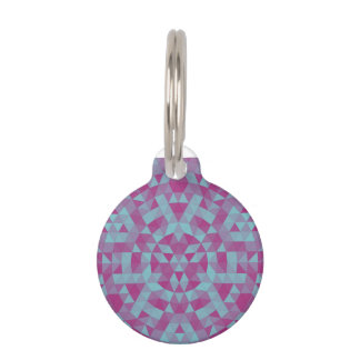 Triangle mandala 2 pet ID tag