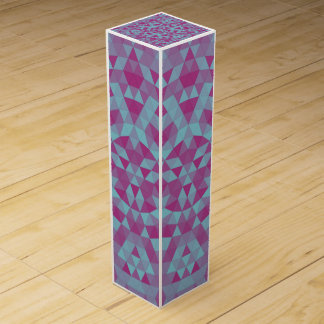 Triangle mandala 2 wine gift box