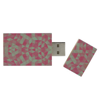 Triangle mandala 2 wood USB 3.0 flash drive